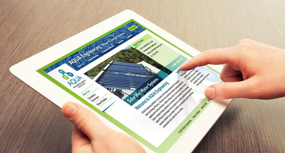 Aqua Engineering Website and logo