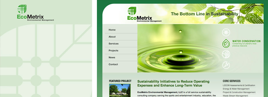 Ecometrix-folder-website